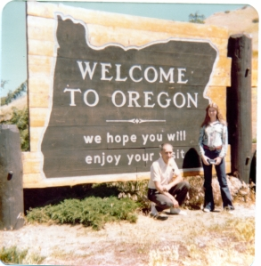 me and Pa Welcome to Oregon
