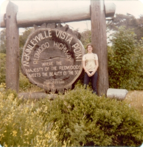 Me by redwood sign 1976