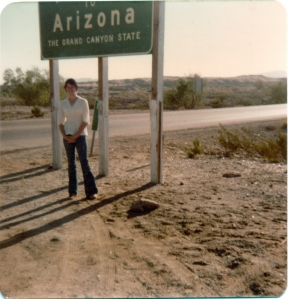 me welcome to AZ sign