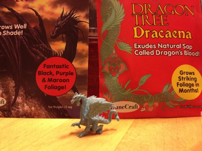 Dragon's lair seed packets and Blue Dragon