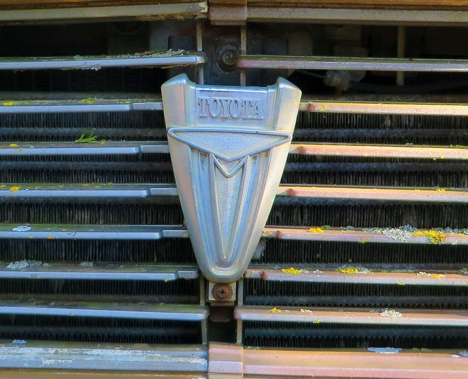 old Toyota truck grill close up