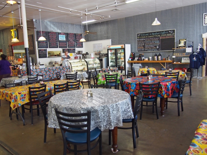 Interior of Redbud Cafe market & pub