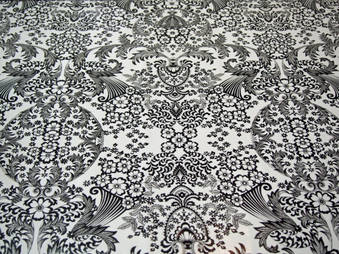 Black and White Oil Cloth