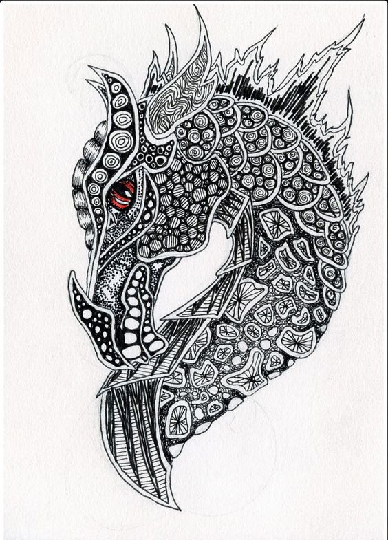 Zentangle Dragon 2