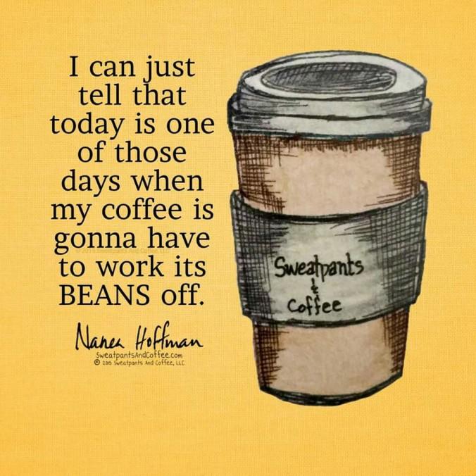 coffee woek beans off