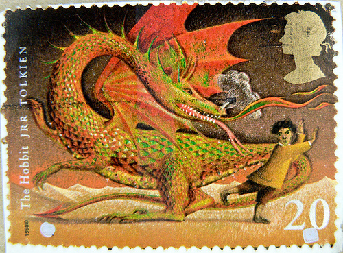 Lord of the rings Dragon Stamp