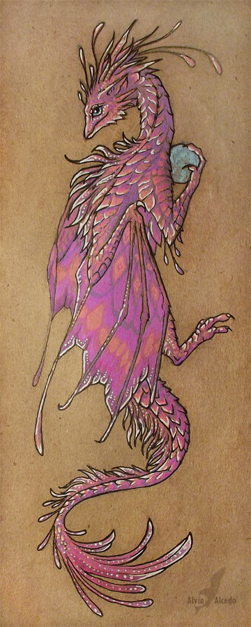 pink_dragon_bookmark_by_alviaalcedo-d4qlvgr