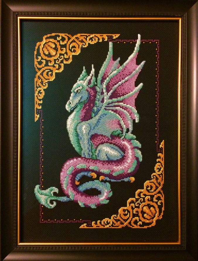 Cross stitch Blue Dragon 2