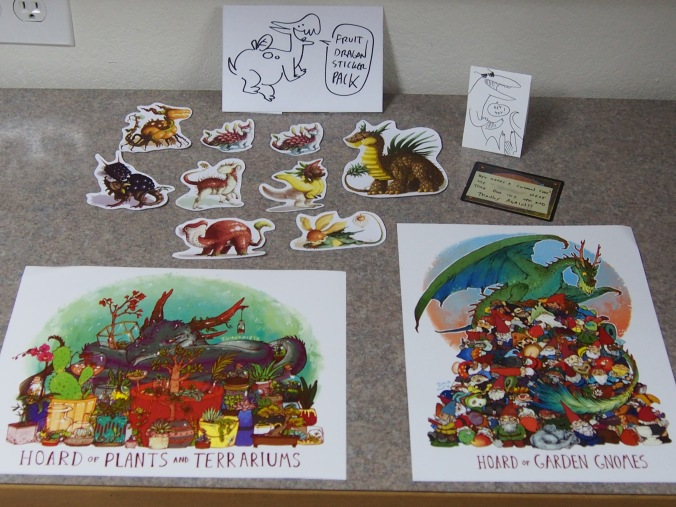 Order from Iguana mouth.  Unusual dragon hoard prints and dragon fruit stickers