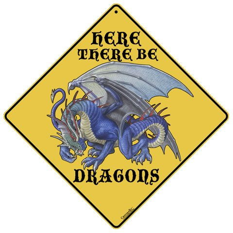 Dragons Here they Be Amazon