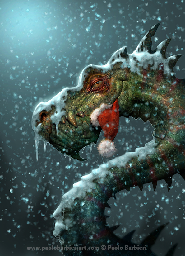 The Christmas Dragon.Dragon Thursday Merry Christmas Dragon By Paolo